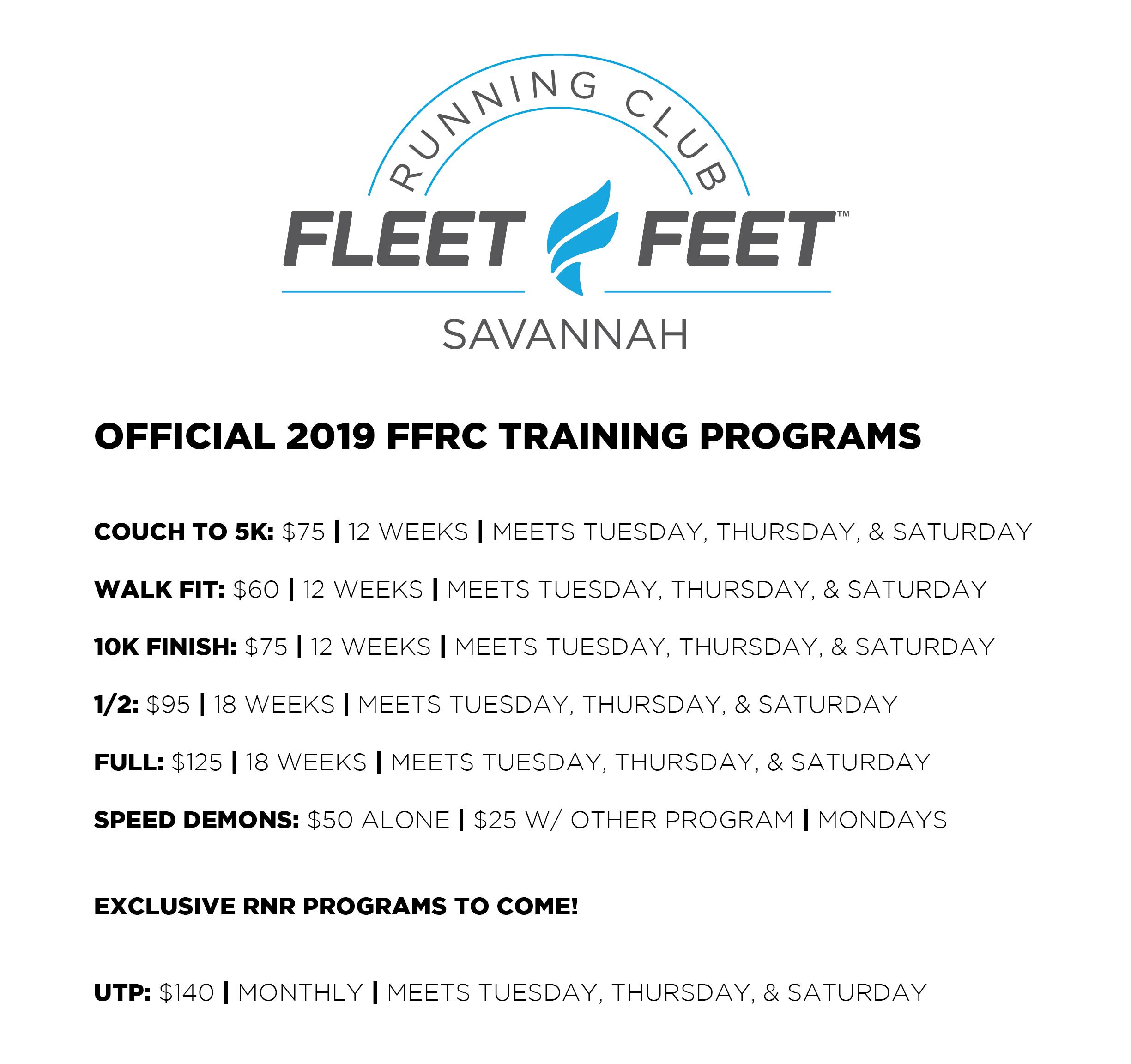 2019 FFRC TRAINING PROGRAMS