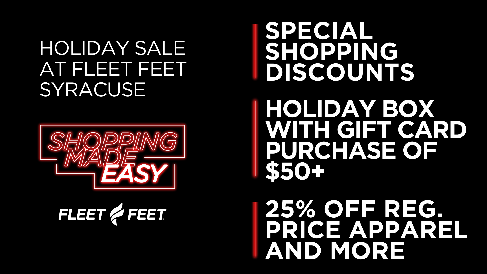 Holiday Gift Runner and Walking Sale