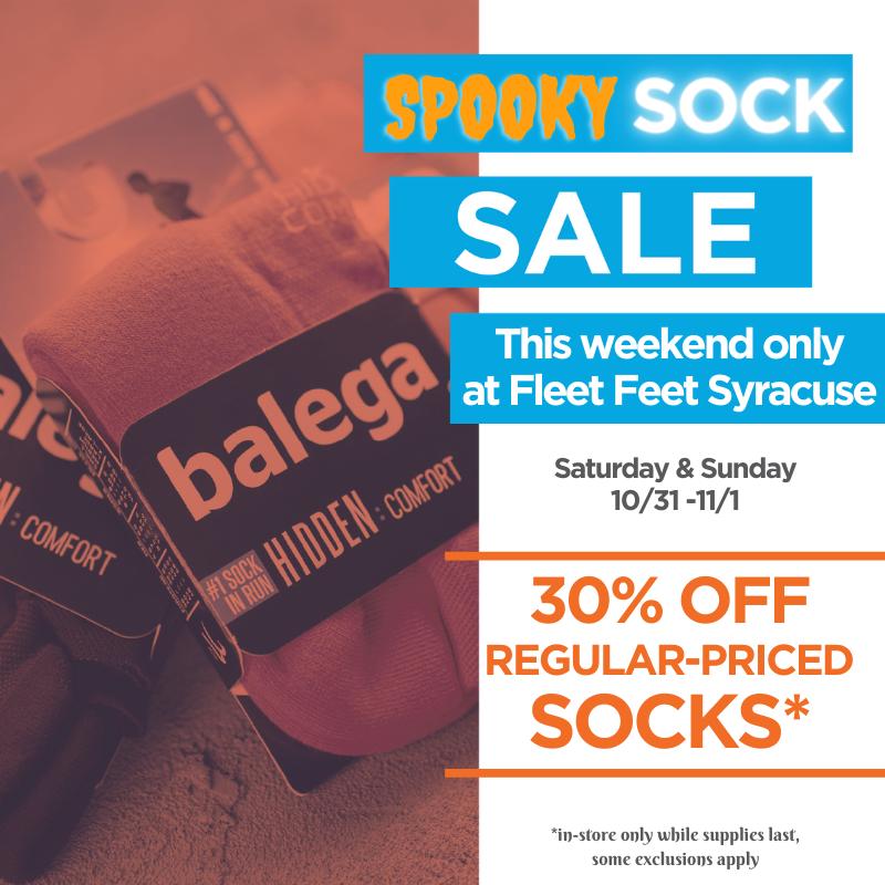 sock sale at fleet feet syracuse