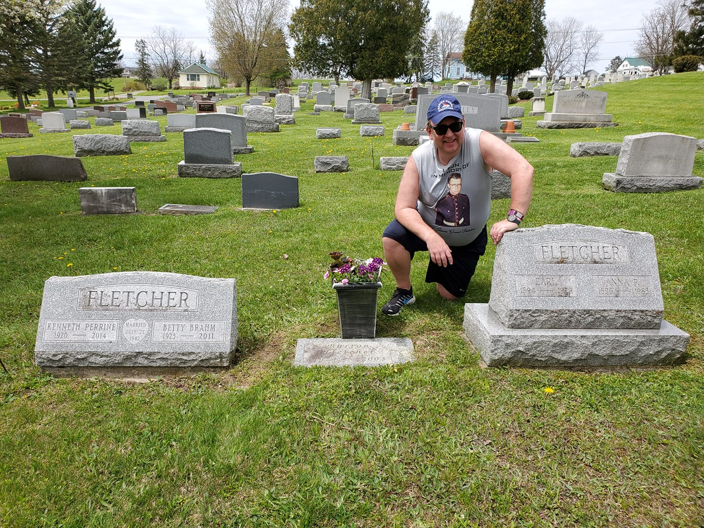 grant pictured honoring cemetary