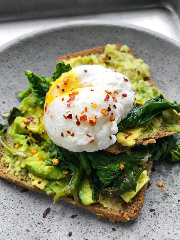 Avocado toast for healthy fats in the morning