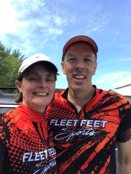 the carneses' in fleet feet run club gear
