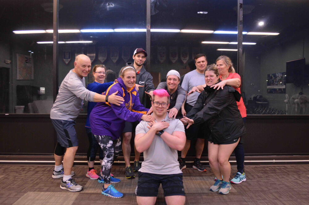 Coach Greg cross-training workout group photo