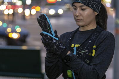 Hat and gloves passive reflectivity