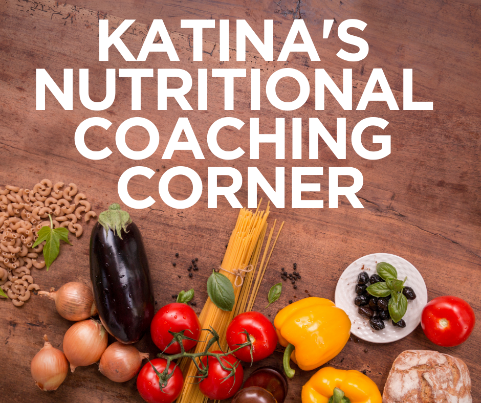 Katinas coaching corner wooden table with ingredients