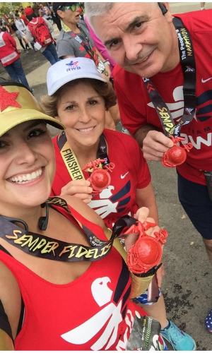 Runners Bob, Wendy and Kristine Savage Post Race picture