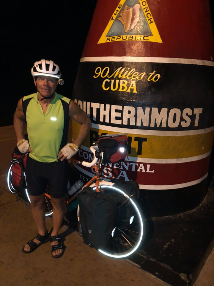 Gary and his bike in southernmost point