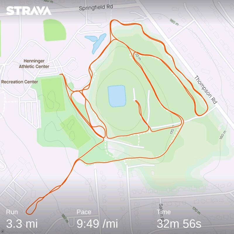 Strava trail route - fleet feet syracuse running club