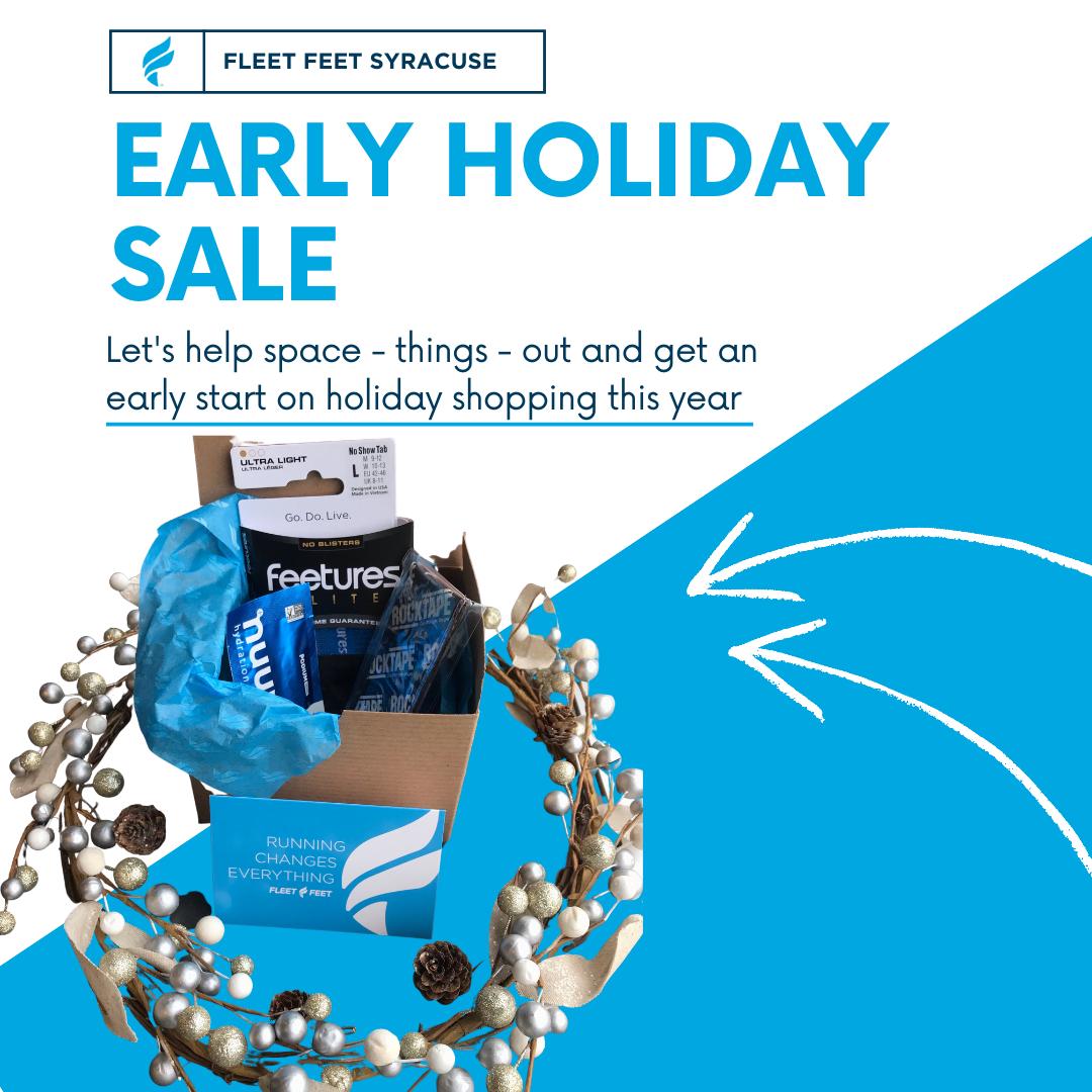 holiday sale at fleet feet syracuse