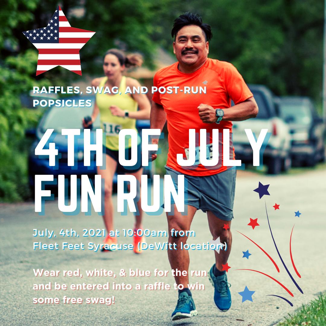Fourth of july fun run fleet feet syracuse