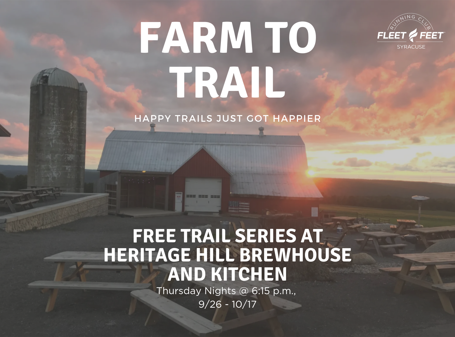 Free trail run at heritage hill sunset