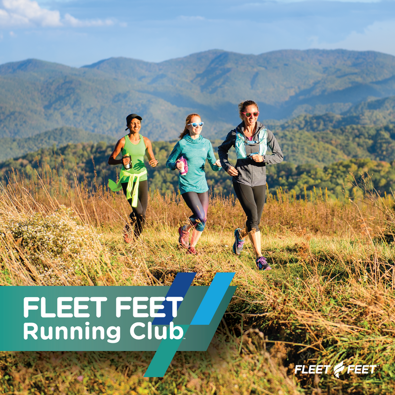 Trail Runners together with Mountain backdrop