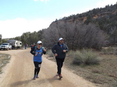 Vanesa and Nick nearing the end of the race