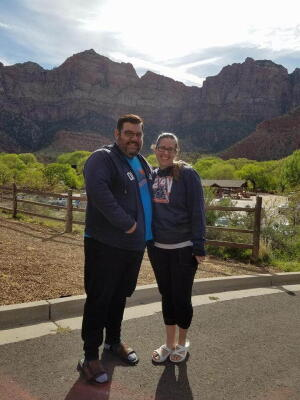 Nick and I the day after the Zion Half Marathon