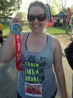 After finishing the Lake Lowell 5K on April 9, 2016