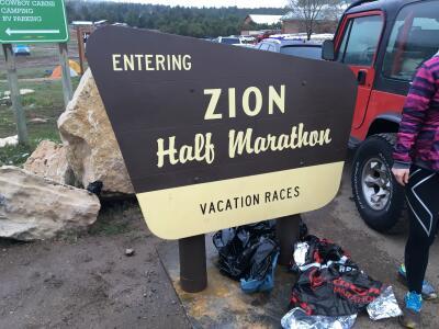 Starting the Zion Half Marathon