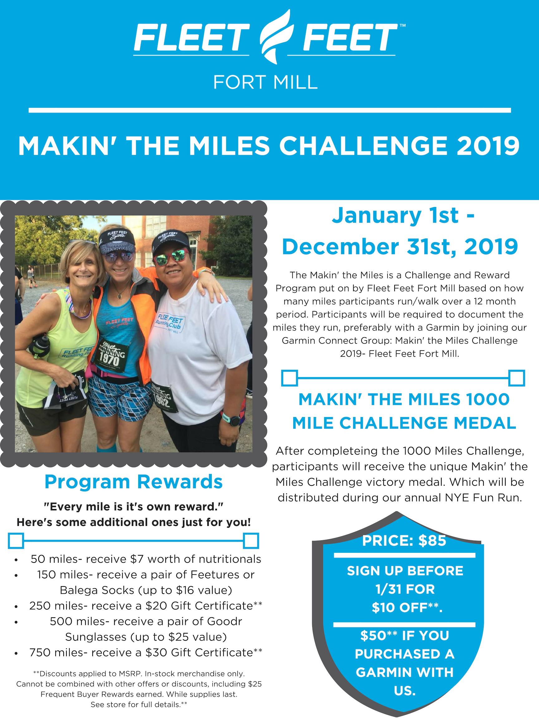 Makin' the Miles Challenge 2019