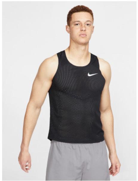 Men's Nike Aeroswift Tank in Black