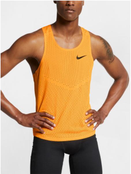 Men's Nike Aeroswift Tank in Laser Orange