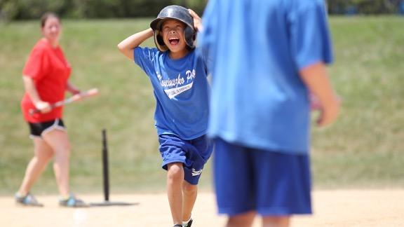 softball runner special olympics