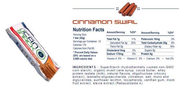 ucan bar cinnamon swirl