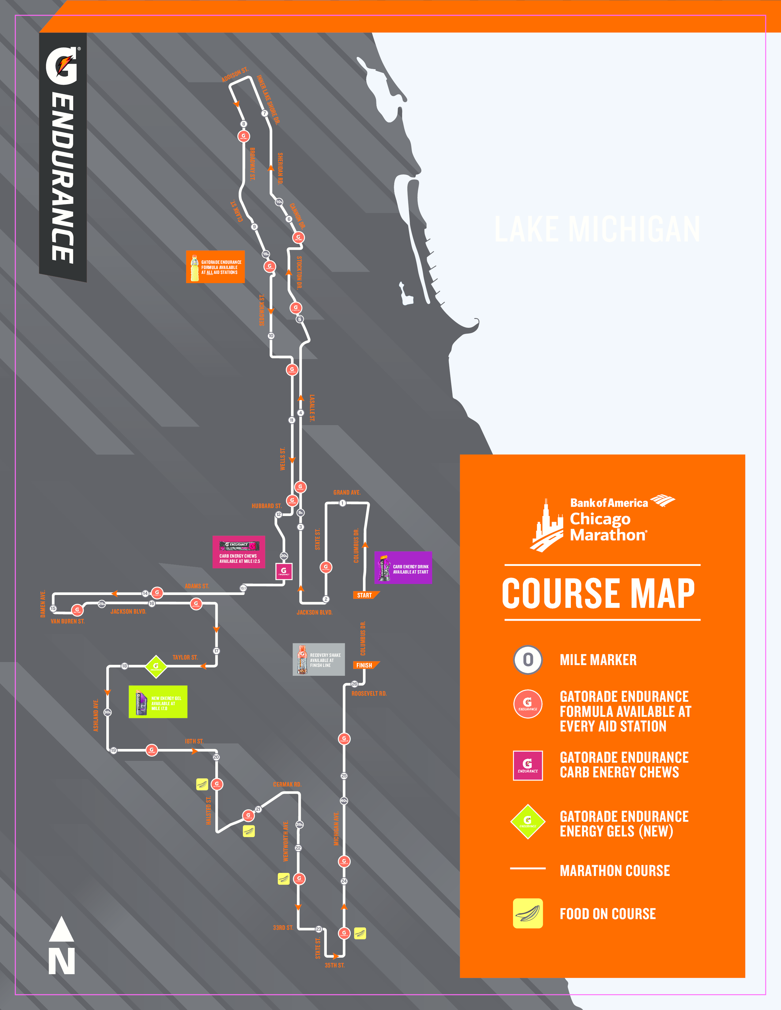 here's a nutrition plan and map of where gatorade endurance