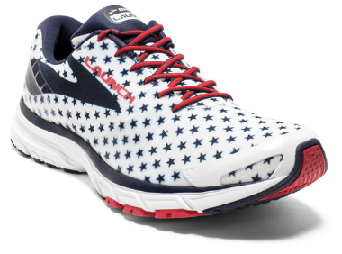 brooks launch 5 red white blue womens