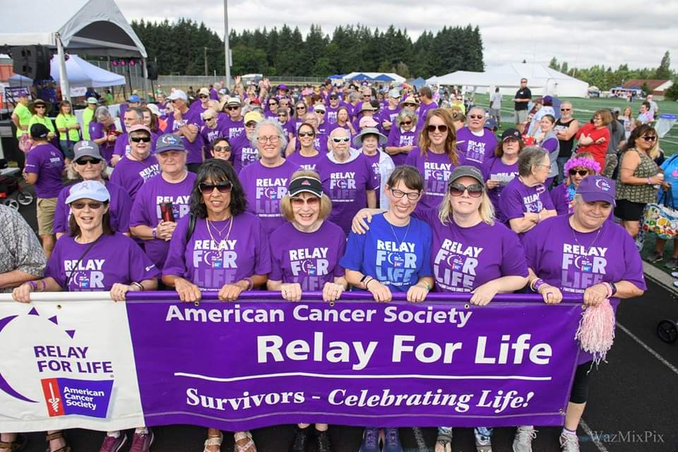 Survivor group photo at Relay for Life in 2019
