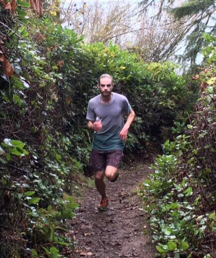Jesse running in shoe.