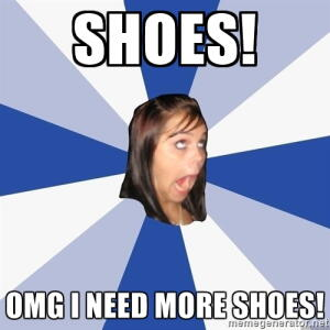 overwhelmed by shoes