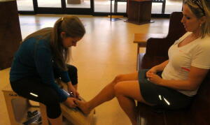 Greeting at Fleet Feet Sports