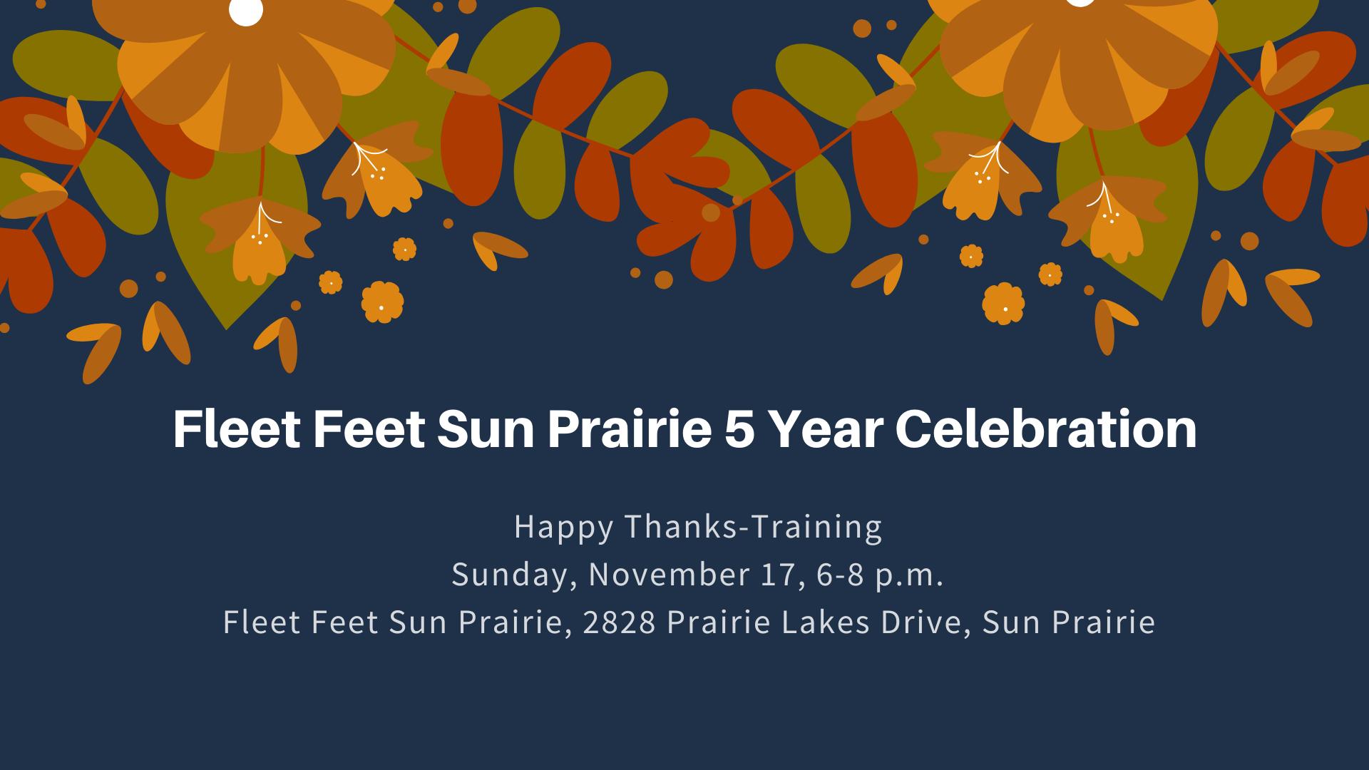 Fleet Feet Sun Prairie 5 year celebration