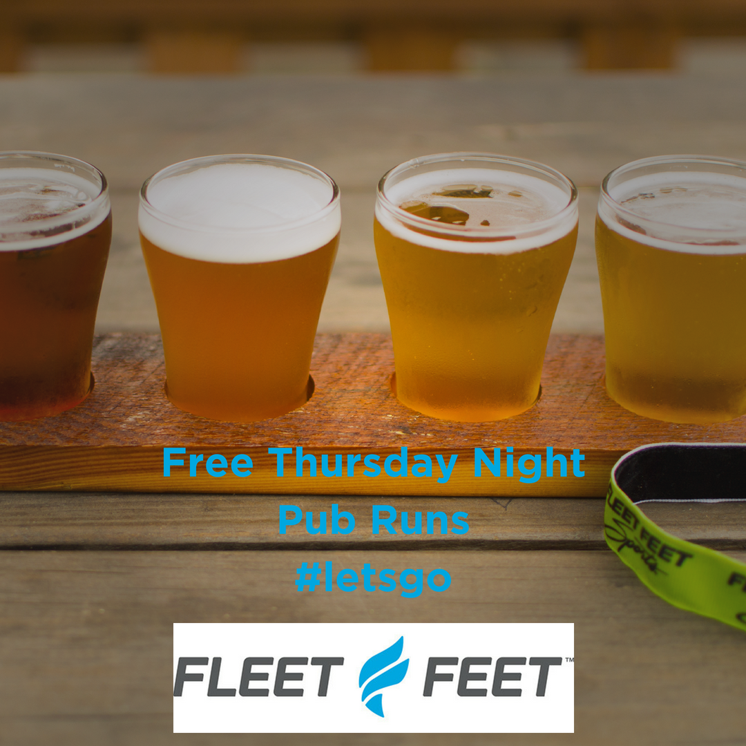 Free Thursday Night Pub Runs with Fleet Feet Madison & Sun Prairie