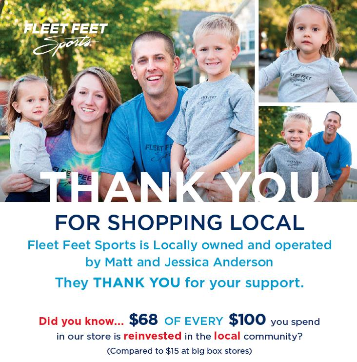 Thank You for Shopping Fleet Feet Sports Madison & Sun Prairie