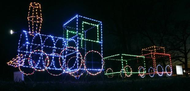 Holiday Lights Display Olin Park  Madison WI