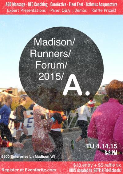 Madison Runners Forum 2015  Fleet Feet Sports Madison & Sun Prairie