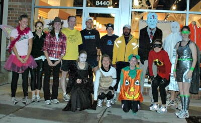 Fun Halloween group run from Fleet Feet Sports Madison