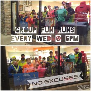 Fleet Feet Sports Madison & Sun Prairie has free group fun runs every week