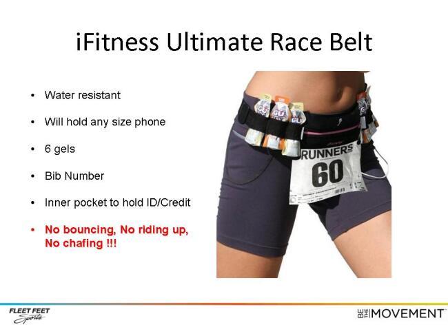 New Product iFitness Ultimate Race Belt at Fleet Feet Sports Madison