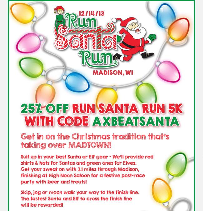 Run Santa Run 5K Discount-Fleet Feet Sports Madison