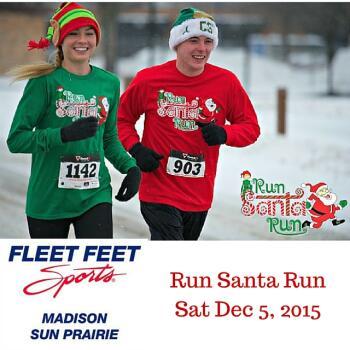 Run Santa Run 5K Madison WI Sponsored by Fleet Feet Sports Madison & Sun Prairie