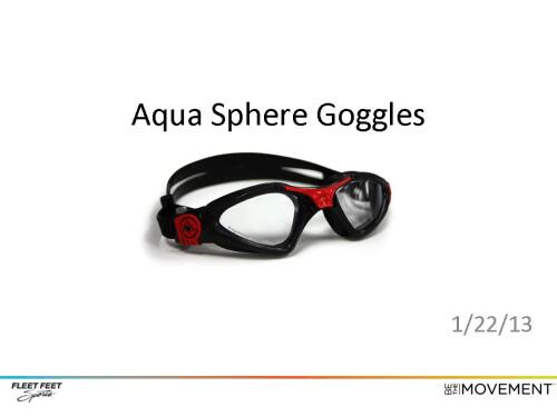Aqua Sphere Goggle at Fleet Feet Sports Madison