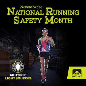 November is National Running Safety Month!  Stop in to Fleet Feet Sports Madison & Sun Prairie for all the products you need to run safer in the dark