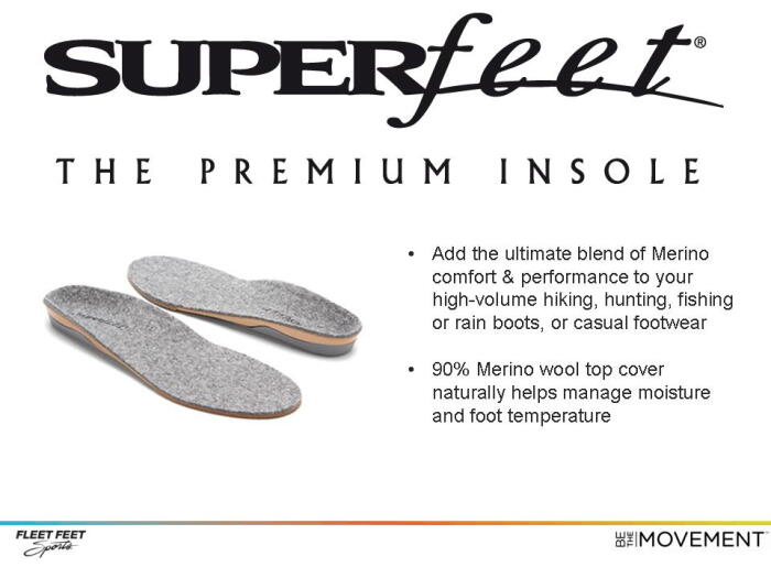 Fleet Feet Sports Madison can recommend the right shoe insole for you
