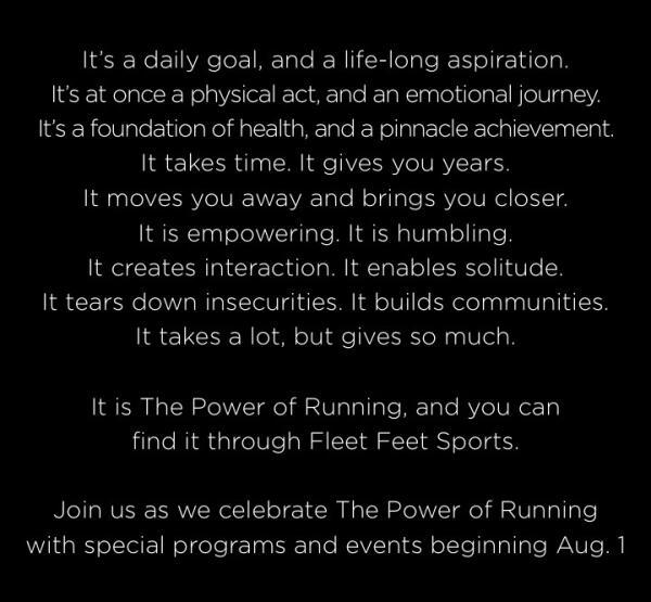 The Power of Running Manifesto