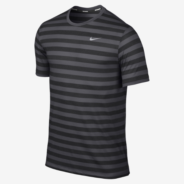 3473f9c4f5b1a7 The Nike Dri-FIT Touch Tailwind Short-Sleeve Striped Men s Running Shirt  helps keep you comfortable on warm-weather runs with ultra-lightweight