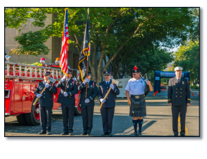 honor guard and chaplain