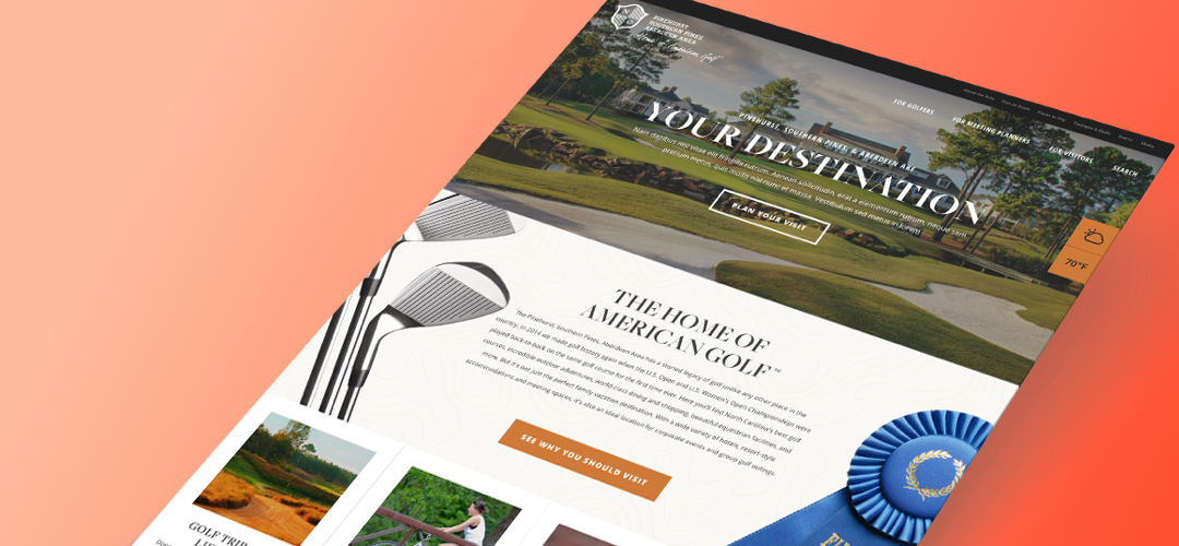 Home of Golf Website Design