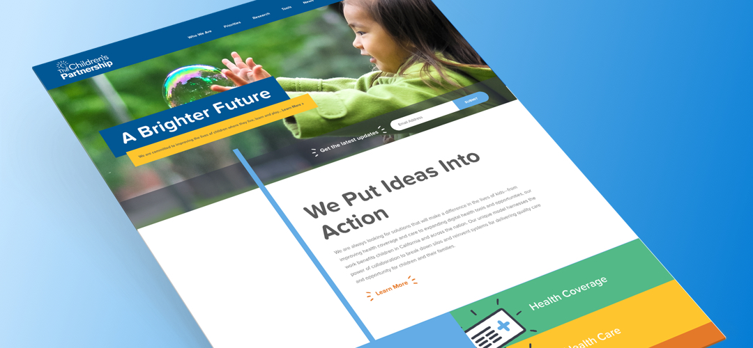 The Children's Partnership Website Redesign