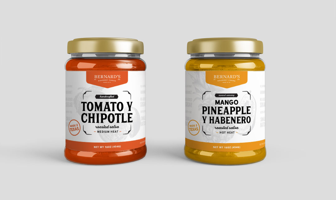 Salsa label mockups